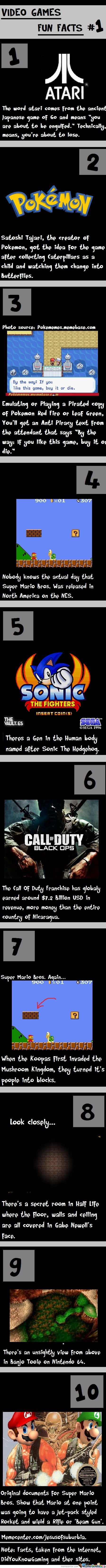 Video Games Fun Facts #1