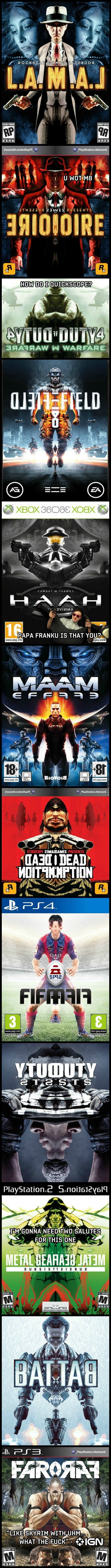 Videogame Covers Mirrored