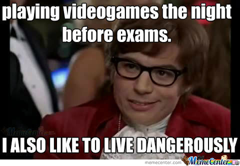 Videogames The Night Before Exams