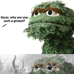 Oscar The Grouch furthermore By sub category in addition Sesame Street Characters Snuffleupagus as well Muppet Bios furthermore 119305. on oscar grouch friend