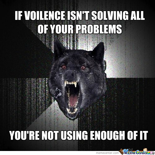 Violence, As Told By Insanity Wolf