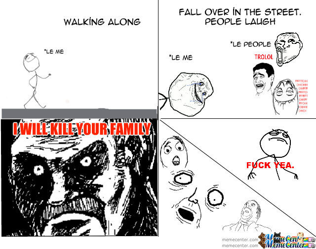 Walking Along Rage Comic