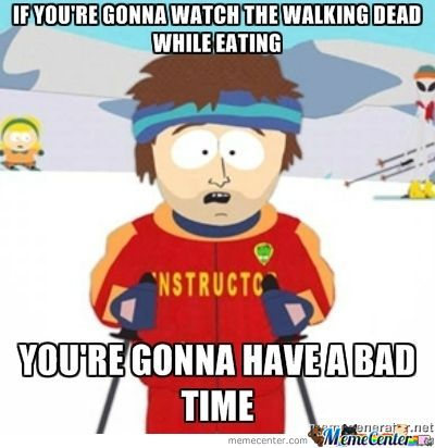 Walking Dead Isn't For Eating