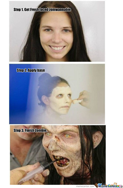 Walking Dead Make-Up Guide