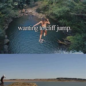 Just Girly Things Cliff Diving by will5675 - Meme Center |Cliff Jump Meme