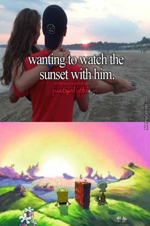 Watch The Sunset With Squidward