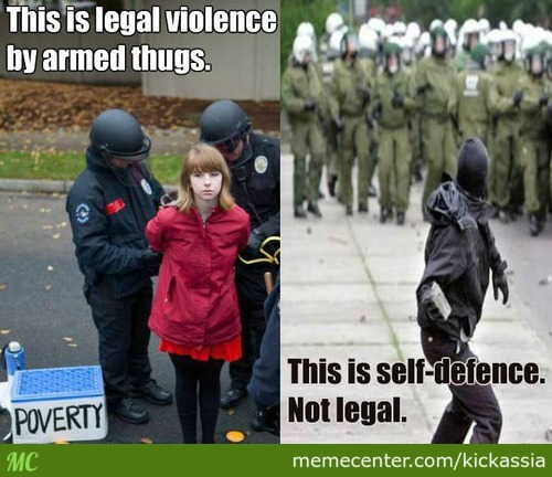 We Anarchists Only Use Violence To Defend Ourself Against Those Who Try To Enslave Us