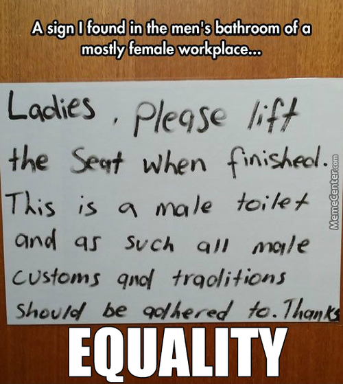 We Men, Need Equality, Too