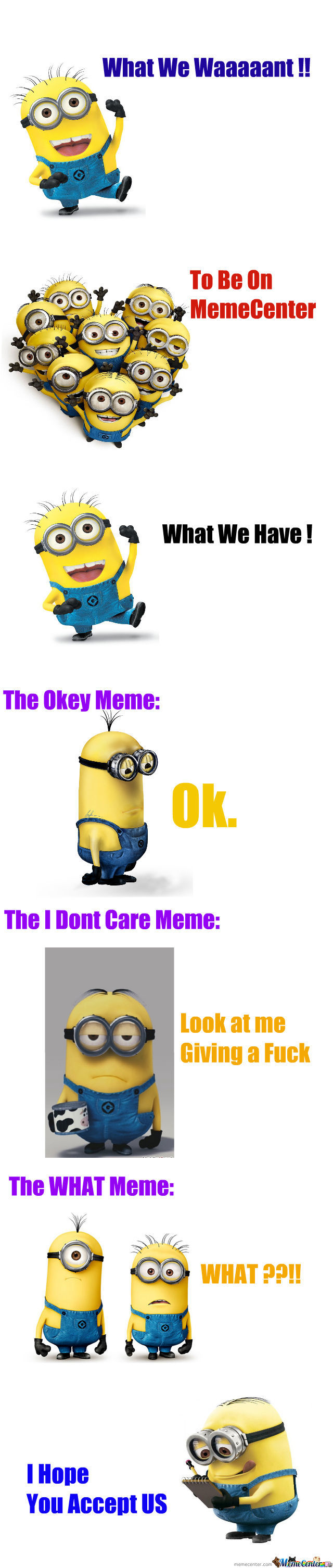 We Want To Be On Memecenter