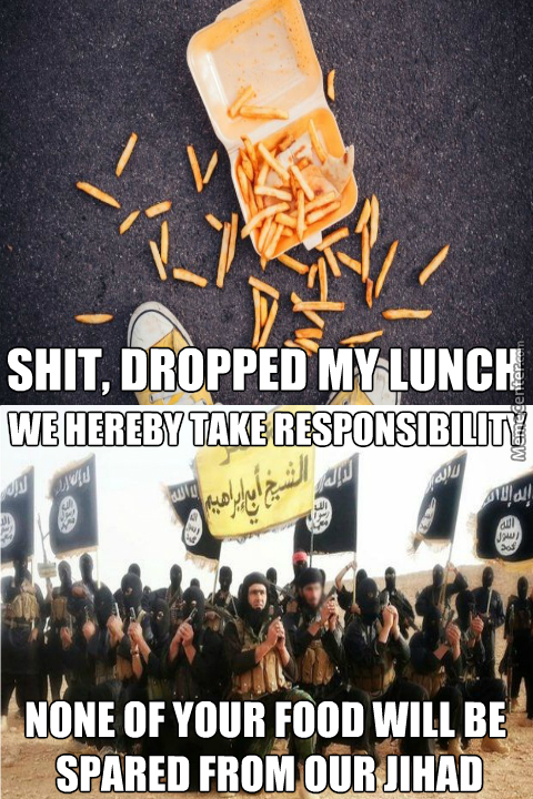 We Were Totally Behind That, Because A Kebab Man Made That Food, And As We All Know Every Kebab Is Isis