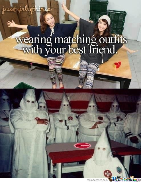 Wearing Matching Outfits With Your Best Friend