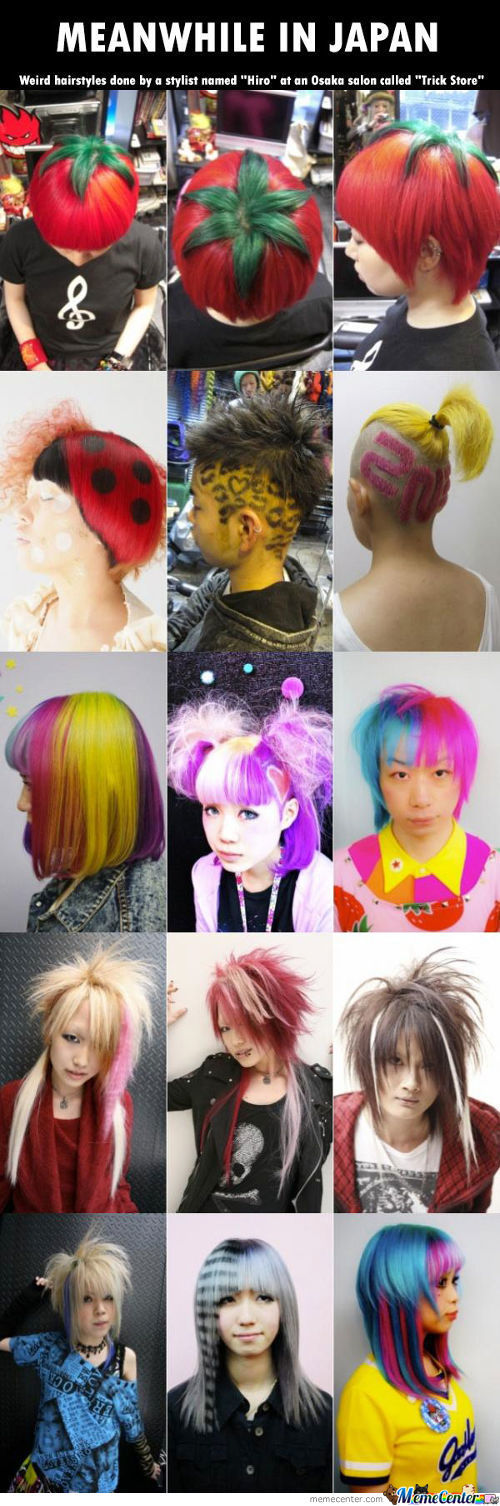 Weird Hair Styles From Japan