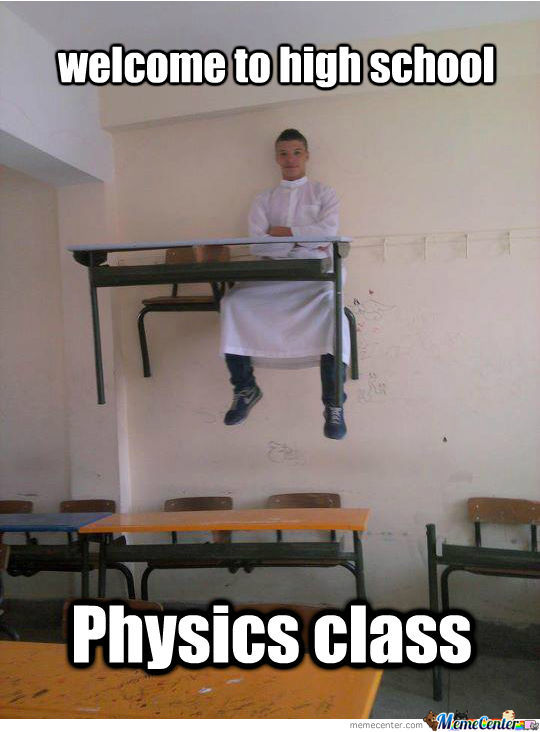 Welcome To High School Physics Class