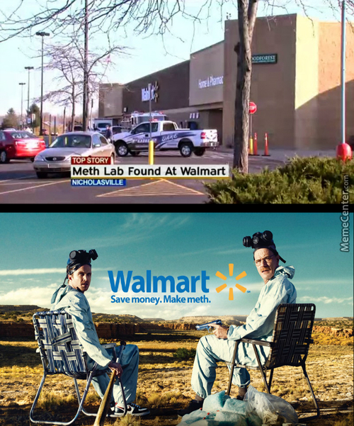 Welcome To Wal-Mart, Needles Are In Aisle 6 And Spoons Are In Aisle 9 Bitch