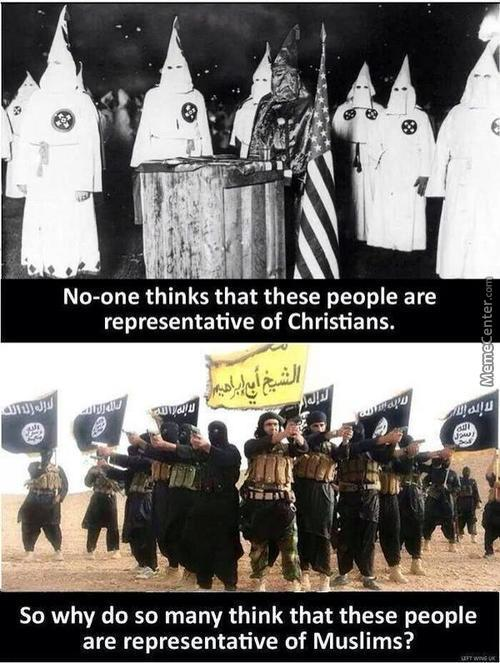 Well, Both Are Groups That Hate Anyone Not Like Them And Have Brutally Killed People....