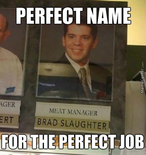 Well Brad, You Can't Spell Slaughter Without Laughter Can You?