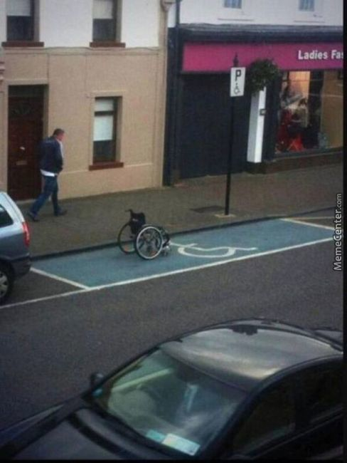 Well I Think He Has Law To Park There