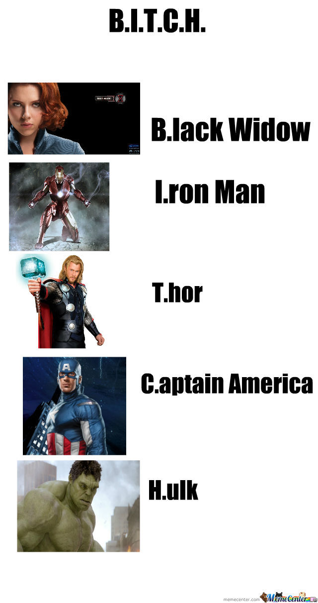 What Bitch Stands For In Characters In Avengers