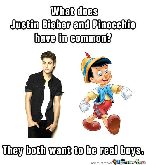 What Does Justin Bieber And Pinocchio Have In Common?