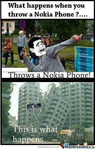 What Happens When You Throw A Nokia?
