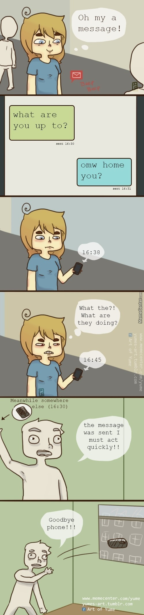 What I Imagine Ppl Do When They Don`t Text Back