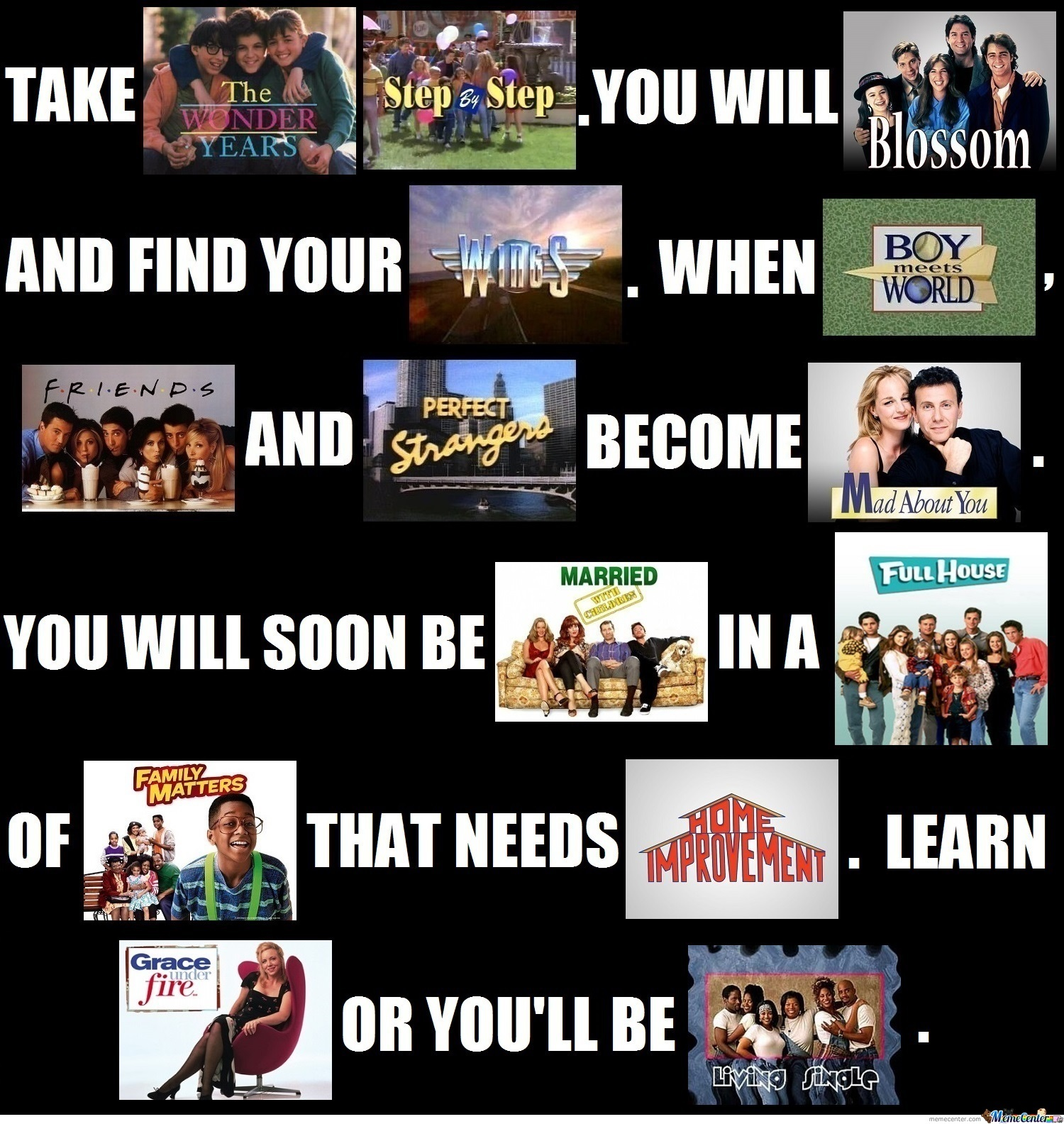What I Learned From 90's Sitcoms