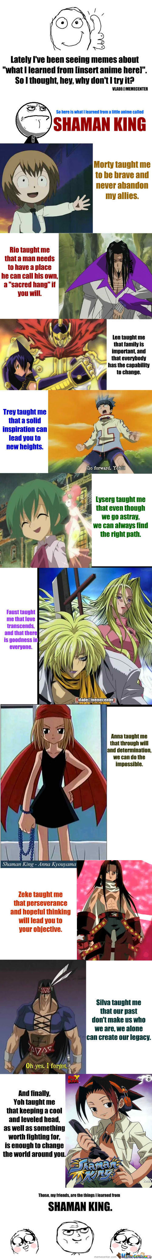 What I Learned From Anime: Shaman King