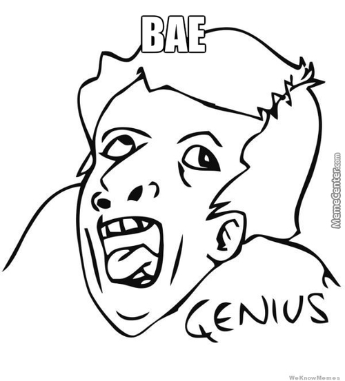 "What I Visualise When I Read Someone Saying ""bae"""