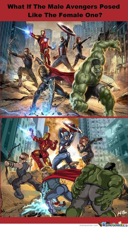 What If The Male Avengers Posed Like The Female One?