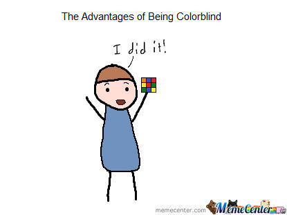 What If We Are All Colourblind And The Blocks Are Single Coloured? *insert Your Conspiracy Keanu Here*
