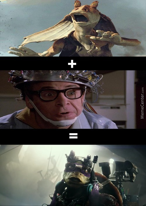 What If We Use Jar Jar And Mix Him With Rick Moranis To Make One Dumb Goofy Looking Character...thanks Michael Bay