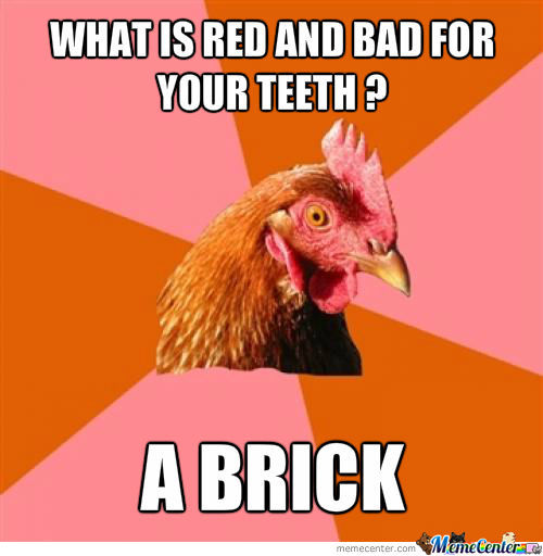 What Is Red And Bad For Your Teeth?