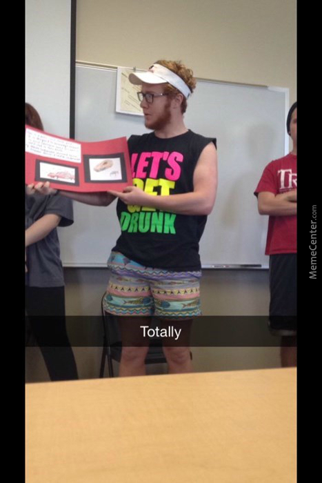 What Not To Wear When Presenting A Project Of Drinking And Driving.