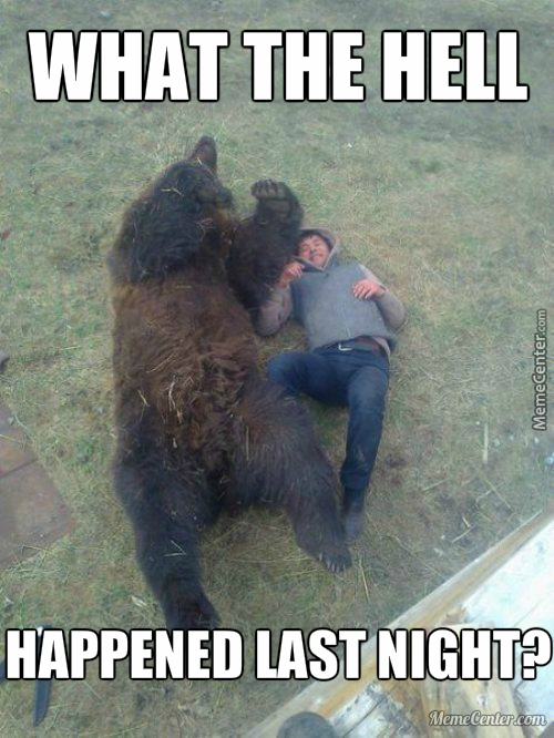 What Would You Do If You Woke Up With A Bear?