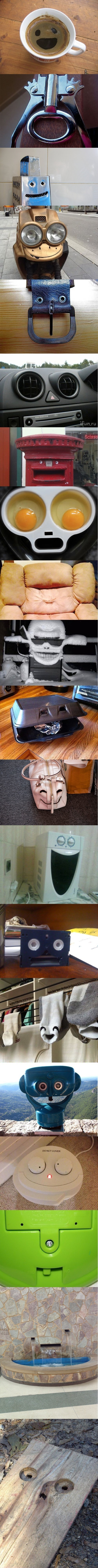When An Object Smiles Better Than You.