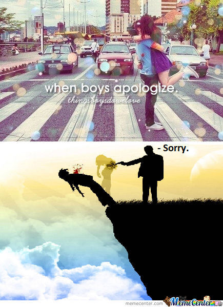 When Boys Apologize.