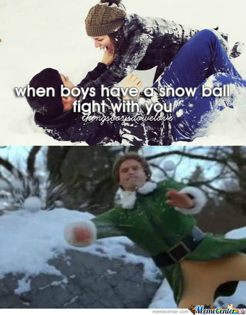 When Boys Have A Snow Ball Fight