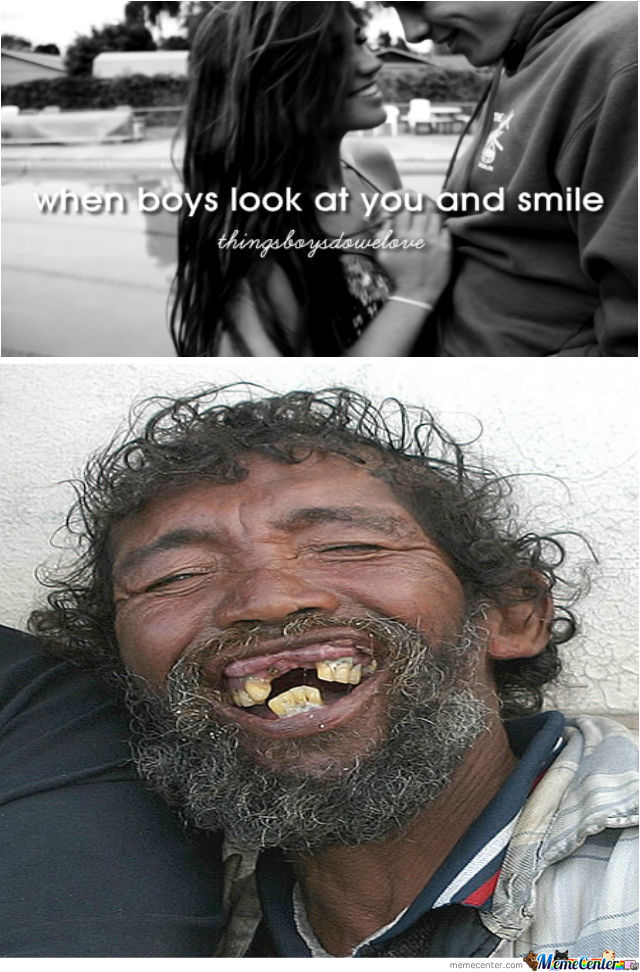 When Boys Look At You And Smile...