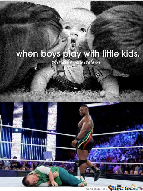 When Boys Play With Little Kids.