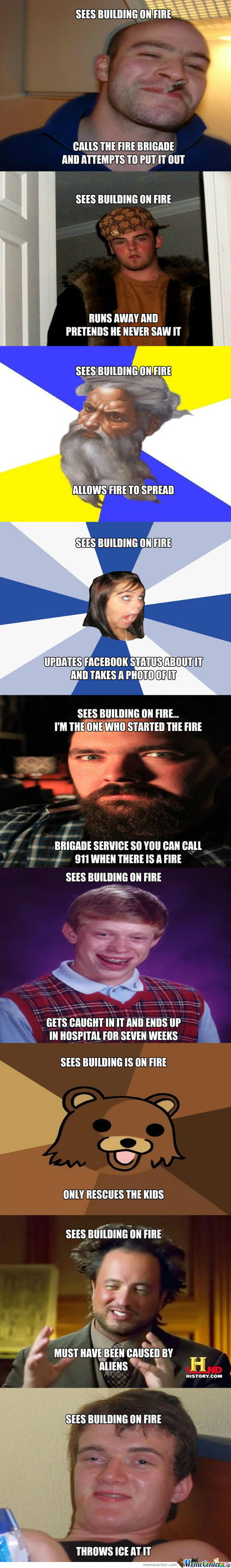 When Buildings Set On Fire