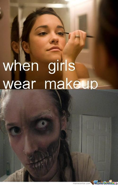 When Girls Wear Makeup