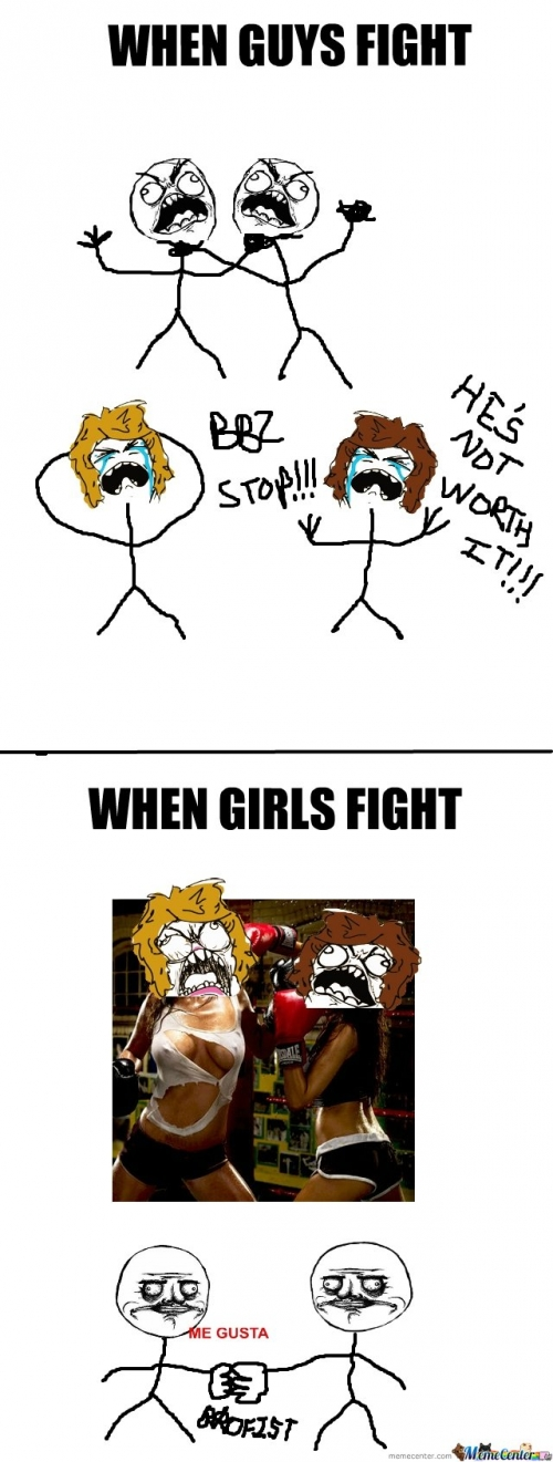 when guys fight vs when girls fight