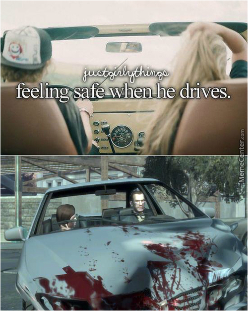 When He Drives...
