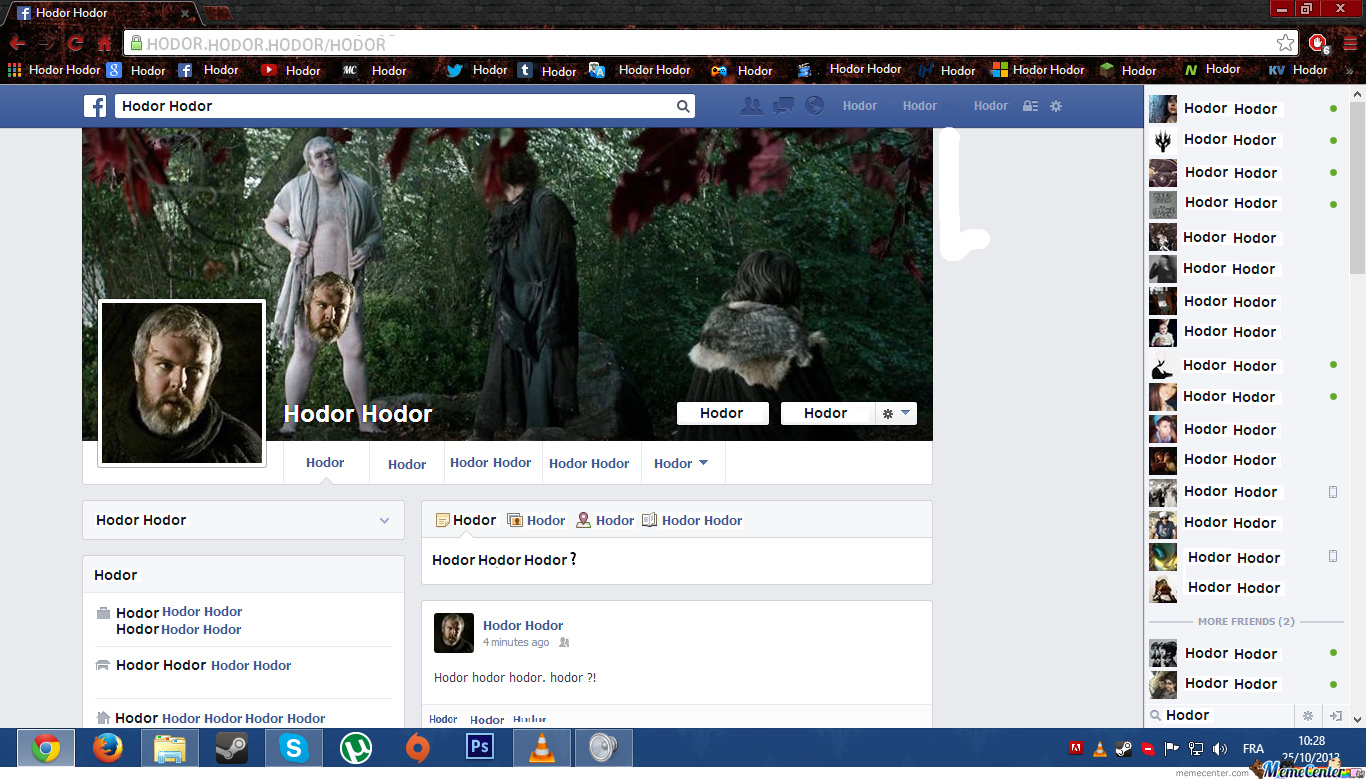 When Hodor Started Using Facebook.
