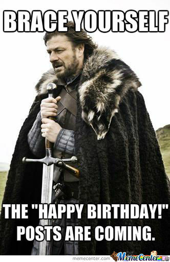 When It's Your Birthday And You're On Facebook.