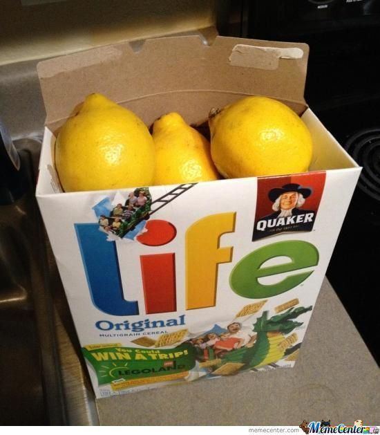 When Life Gives You Lemons....you Knw Wht 2 Do...