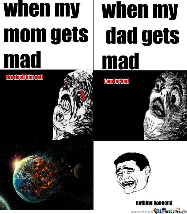 When My Mom And Dad Get Mad