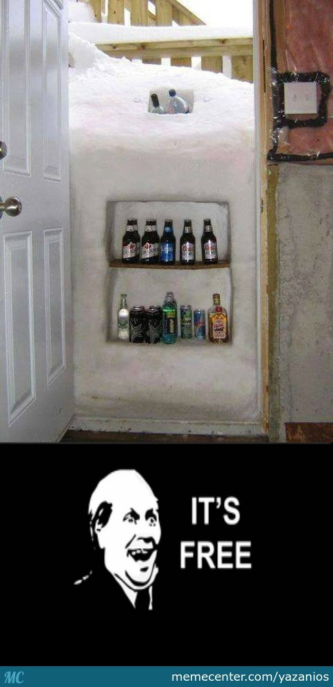 When Nature Gives You 5 Foot Snow Drifts, Make A Fridge