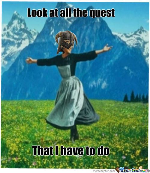 When Playing Skyrim For The First Time