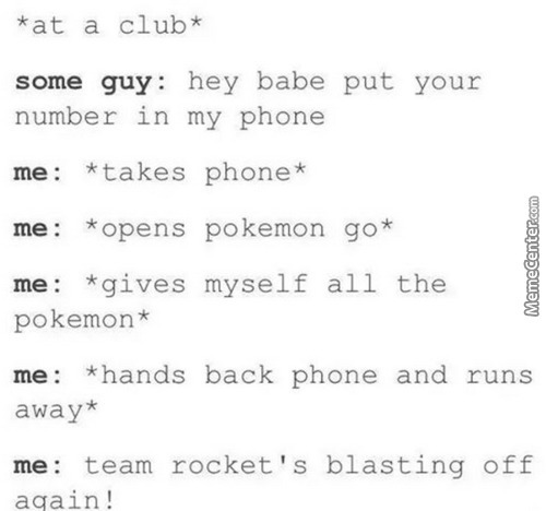 When Pokemon Go Comes I Will Wear Team Rocket Uniforms And Attack People With Pokemon Go Plus